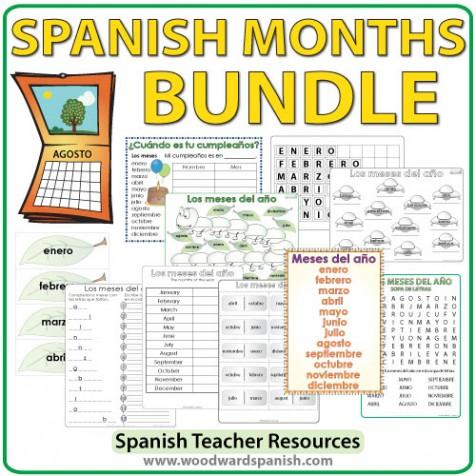 Spanish Months - Bundle of Teacher Resources