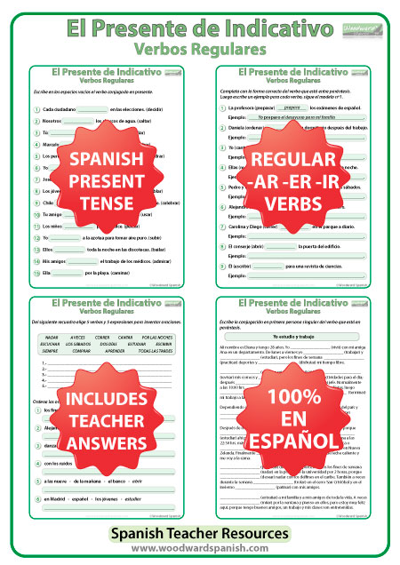 ... worksheets woodward spanish : Present Tense Verb Worksheets In Spanish