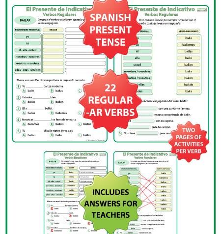 all worksheets spanish ar verb conjugation worksheets printable worksheets guide for. Black Bedroom Furniture Sets. Home Design Ideas