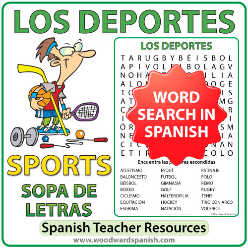 Spanish Sports Word Search - Los Deportes - Sopa de Letras