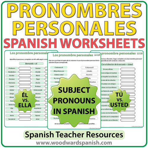 Spanish Subject Pronouns Worksheets – Spanish Subject Pronouns Worksheet