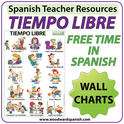 Spanish Free Time Wall Charts / Flash Cards