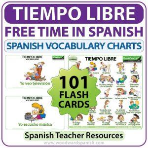 Spanish Free Time Activities - 101 actividades de tiempo libre en español - Spanish Teacher Resource