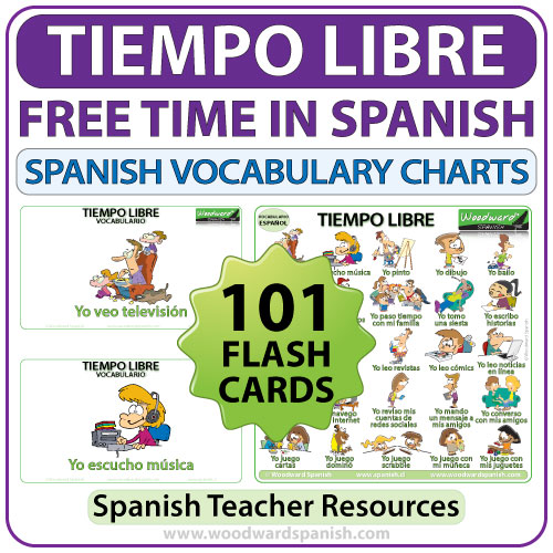 Spanish Free Time Activities - 101 actividades de tiempo libre en español - Spanish Teacher Resource