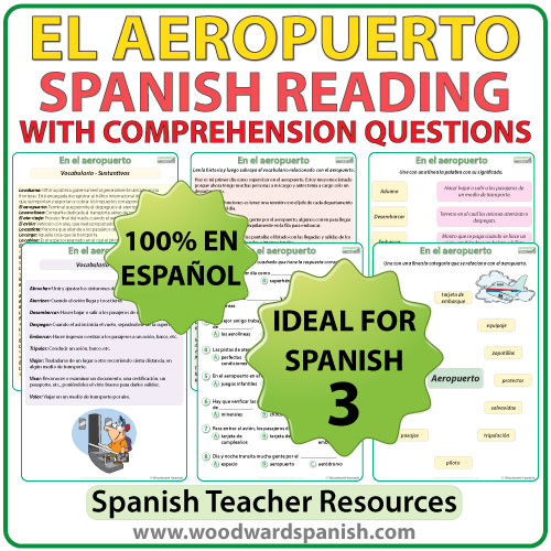 Spanish Reading El Aeropuerto – Spanish Reading Comprehension Worksheets
