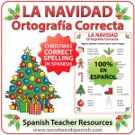 Spanish Spelling Activity - Christmas Vocabulary. Ortografía Correcta - La Navidad.