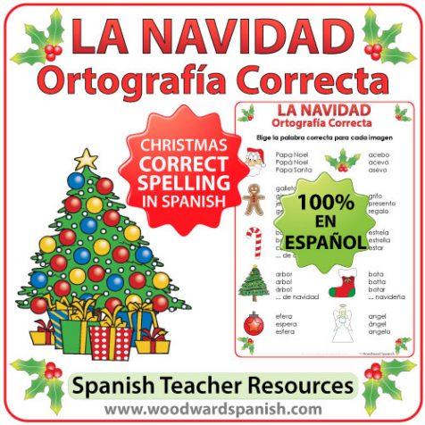 Spanish Spelling Activity - Christmas Vocabulary. Ortografía Correcta - La Navidad.