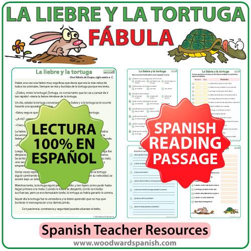 Fable in Spanish - Fábula en español - La liebre y la tortuga