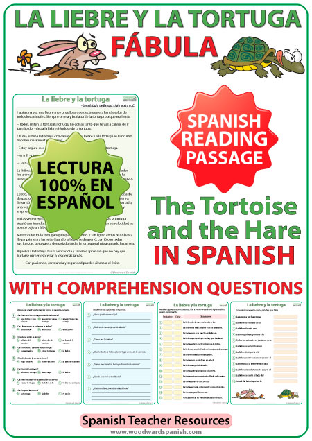La liebre y la tortuga - Una fábula en español - Fable in Spanish - The tortoise and the hare