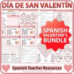 Spanish Valentine's Day Bundle of Teacher Resources - Día de San Valentín