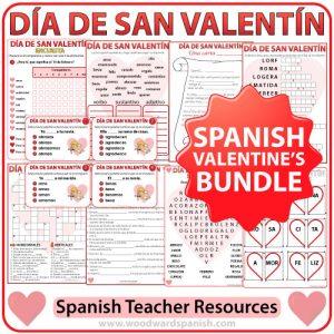 Spanish Valentine's Day Bundle of Teacher Resources - Día de San Valentín