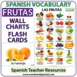 Fruit in Spanish - Wall Charts and Flash Cards. Las frutas en español.