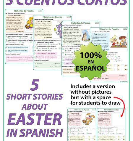 Short stories about Easter in Spanish. Cuentos cortos en español acerca de la Pascua.