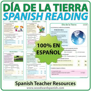 Spanish Reading Passages about Earth Day. Lecturas en español acerca del Día de la Tierra.