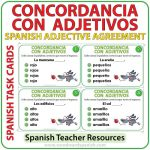Spanish Task Cards - Concordancia con Adjetivos - Spanish Adjective Agreement