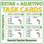 Spanish Task Cards - Estar + Adjetivo