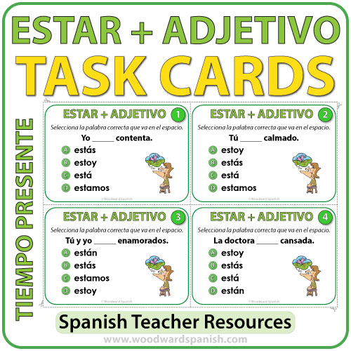 Spanish Task Cards - Estar + Adjetivo