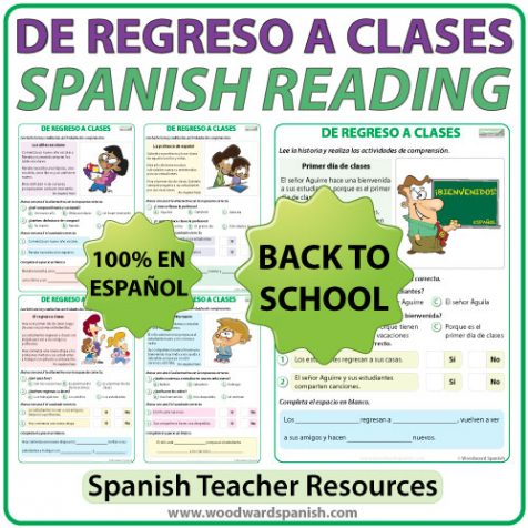 Back To School - Spanish Reading - De Regreso a Clases - Lectura