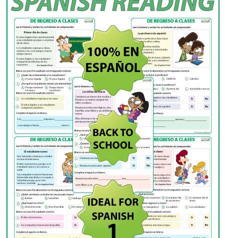 De Regreso a Clases - Lectura - Back To School - Spanish Reading