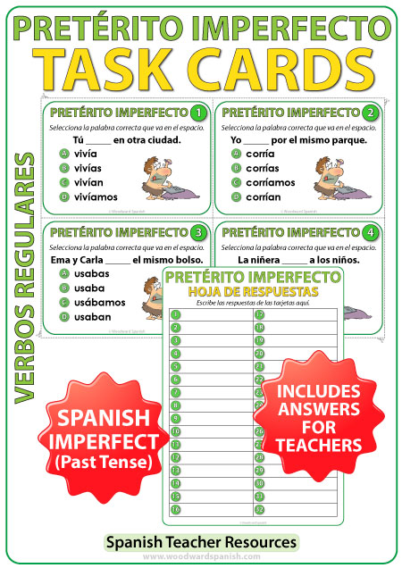 Pretérito Imperfecto - Spanish Task Cards - Imperfect Past Tense in Spanish