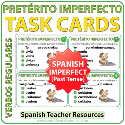Spanish Pretérito Imperfecto - Task Cards - Imperfect Past Tense in Spanish