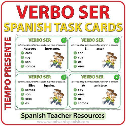 SER Present Tense - Spanish Task Cards