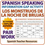 Spanish Speaking - Halloween Information Gap Activity - La Noche de Brujas