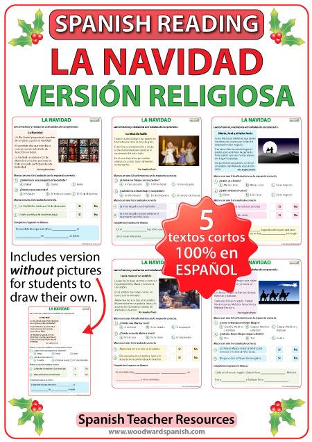 Spanish Reading - Religious Christmas Stories in Spanish - La Navidad