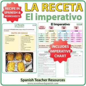 Spanish Imperative Recipe Worksheets - La receta en español - El imperativo