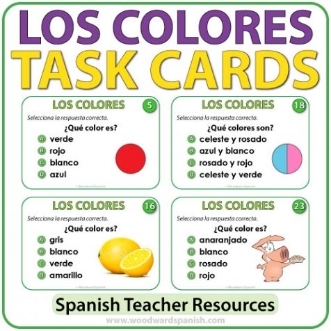 Los Colores - Spanish Colors Task Cards