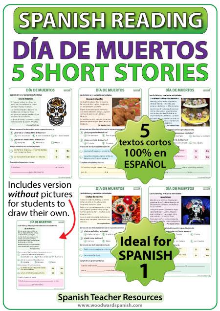 Día de Muertos - 5 cuentos cortos - Spanish Reading - Day of the Dead