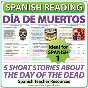 Spanish Reading - 5 Short stories about the Day of the Dead in Spanish - Día de Muertos
