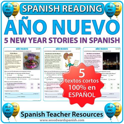Spanish Reading about New Year - Lecturas acerca del Año Nuevo en español