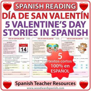 Spanish Valentine's Day Reading - 5 historias cortas del Día de San Valentín