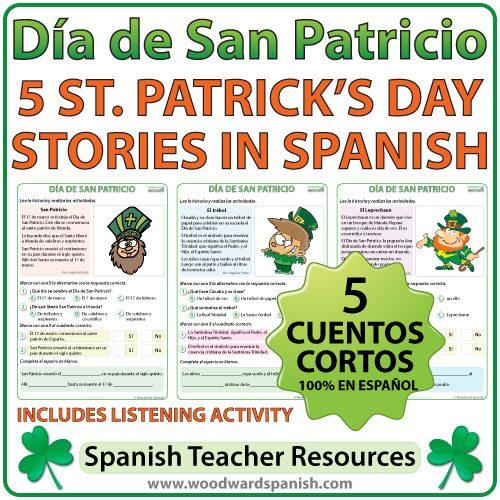 Día de San Patricio - 5 cuentos cortos en español - Spanish Stories about Saint Patrick's Day