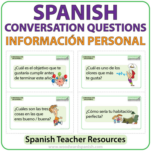 Spanish conversation questions about personal information
