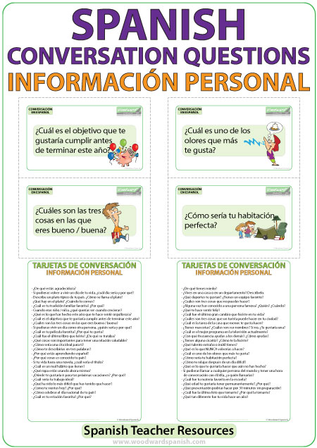 Spanish personal information questions - ELE teacher resource