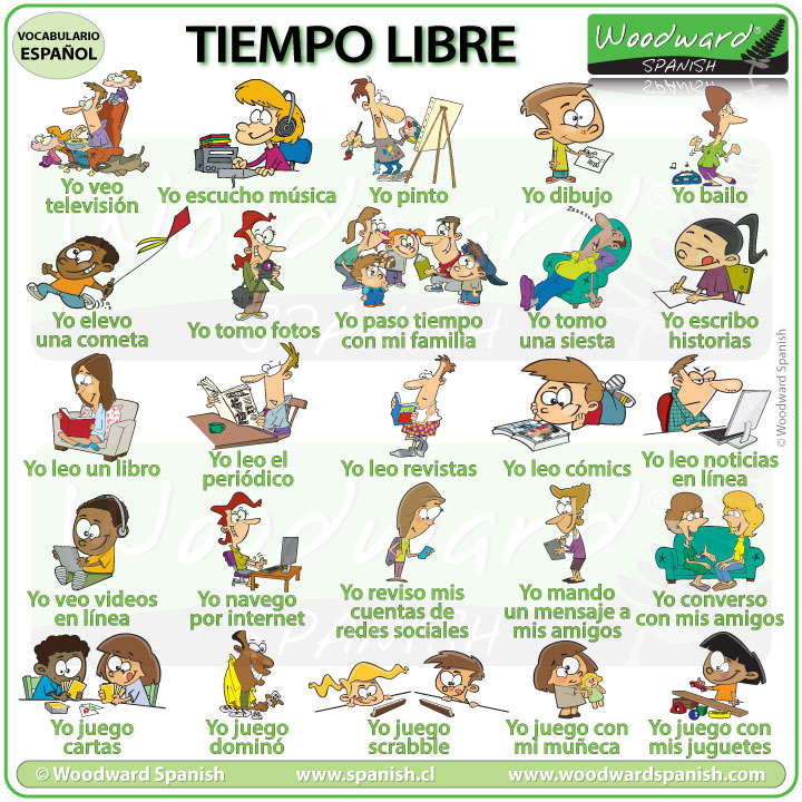 Free time activities in Spanish - Tiempo libre
